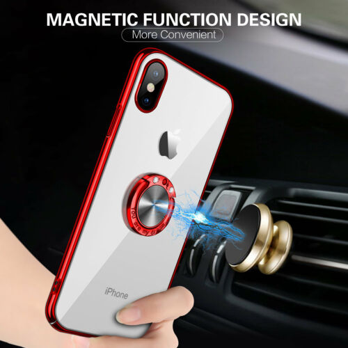 For iPhone Xs Max 8 Plus Ring Magnetic Shockproof Rugged Hybrid Phone Case Cover