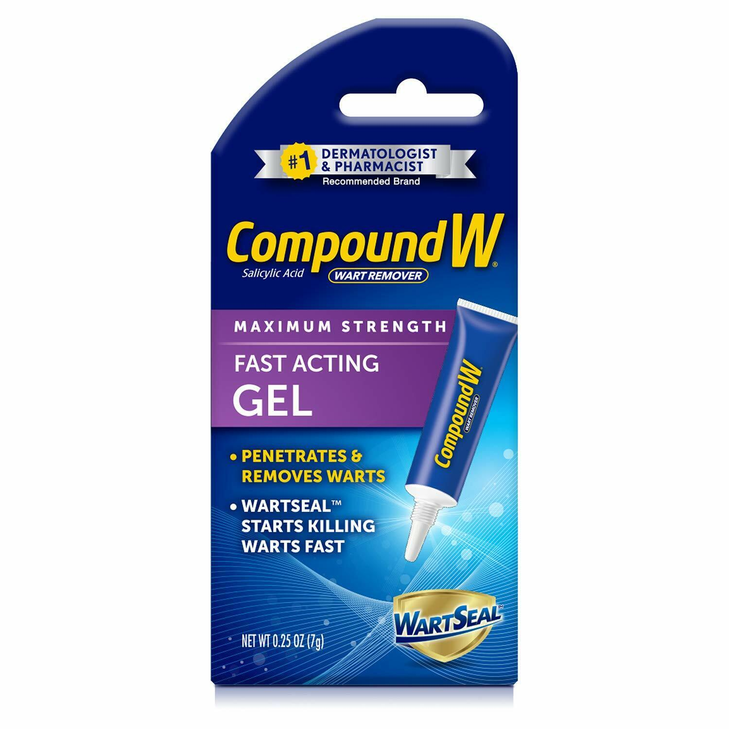Compound W Maximum Strength Fast Acting Gel Wart Remover, 0.