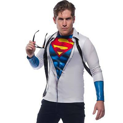 Superman Adult Shirt And Tie Costume Shirt - Superman White Costume