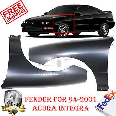 LH /& RH Side For Acura Integra-Pair New Front Quarter Panels Fenders-Set of 2