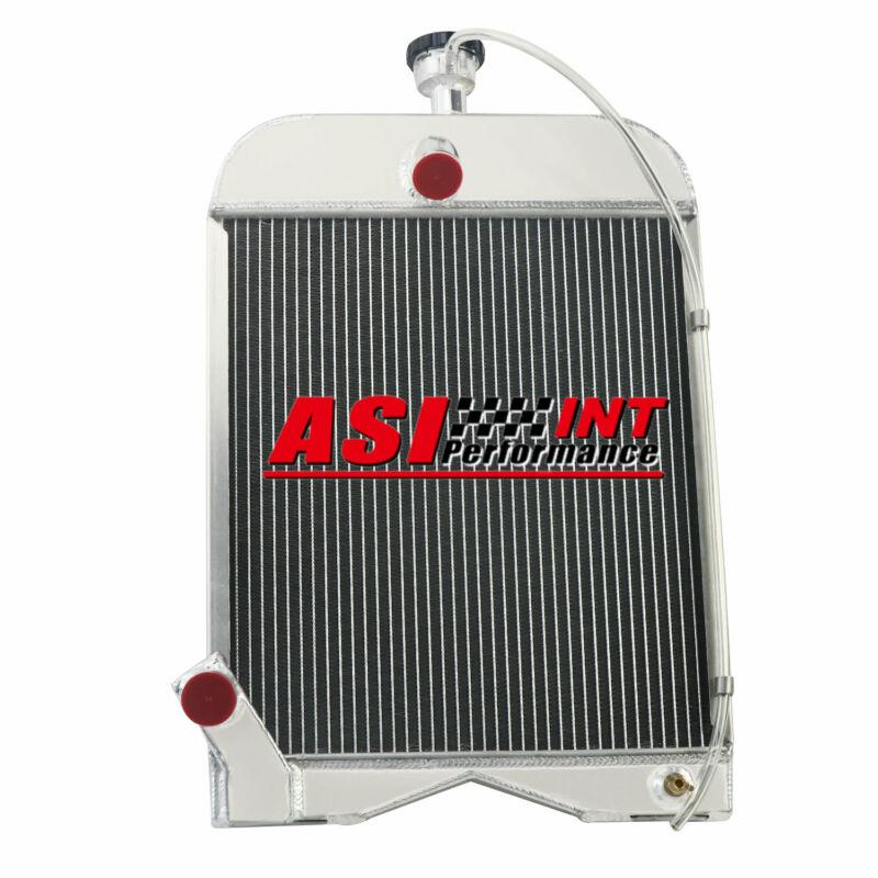 8N8005 86551430 Aluminum 3 Rows Radiator w/cap For Ford 8N 9