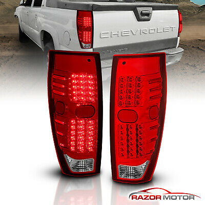 2002 2003 2004 2005 2006 Chevrolet Avalanche Pickup LED Brake Tail Lights Pair