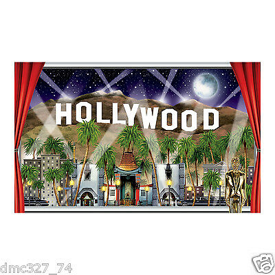 HOLLYWOOD SIGN Movie Night VIP Awards Party Decoration Wall Mural Photo Prop (Movie Night Decor)