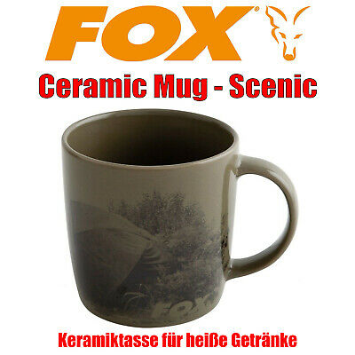 Fox Ceramic Mug Scenic - Keramik Tasse mit Aufdruck Karpfen Angeln Kaffeetasse