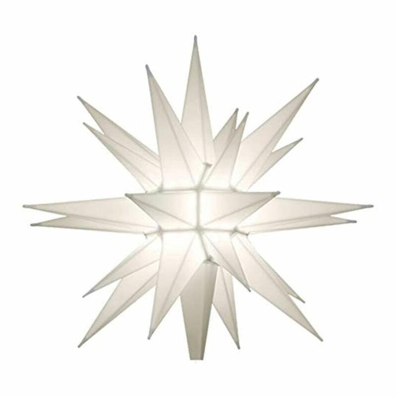 Keystone Holiday 12 Inch Prelit LED Christmas Holiday Star Tree Topper, White