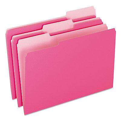 Pendaflex Colored File Folders 13 Cut Top Tab Legal Pinklight Pink 100box