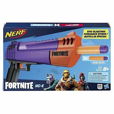 Nerf Fortnite HC-E Mega Dart Blaster -- Includes 3 Official Nerf Mega Fortnite D