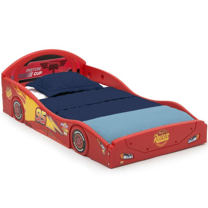 Toddler Plastic Race Car Bed Kid Child Sleep Play Bedroom Furniture RED BOY GIRL