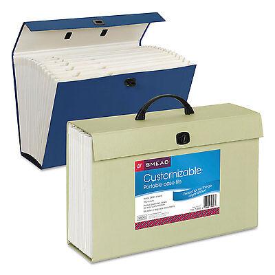 Smead Portable Case File 19 Pockets Legal Assorted Colors 70806