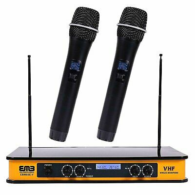 EMB - EBM60E Yellow VHF Dual Wireless Handheld Microphone Sy