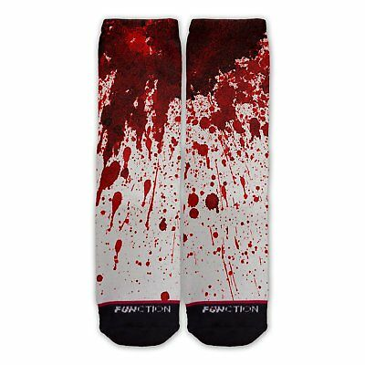 Function - Blood Stain Fashion Socks bloody splatter murder halloween costume