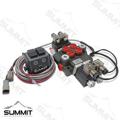 Hydraulic Monoblock Directional Solenoid Control Valve 2 Spool 13 Gpm W Switch