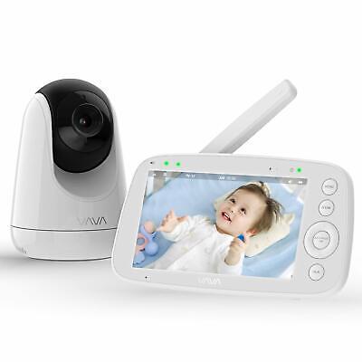 "Baby Monitor, VAVA 720P 5"" HD Display Video Baby Monitor wit"