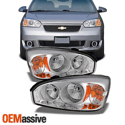 Fits 04-08 Chevy Malibu Headlights Lights Lamps Replacement Pair Set 2004-2008