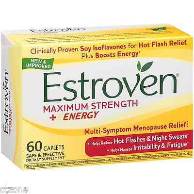 Day Relief Caplets - 60 Estroven Menopause Relief MAXIMUM Strength One Per Day 60 Caplets Night Sleep