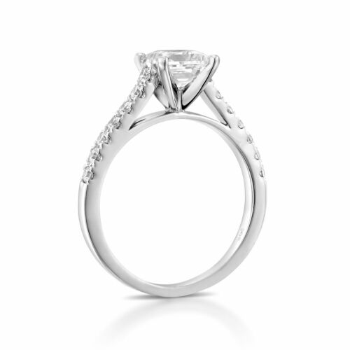2 1/3 Carat H SI2 Beauty Diamond Engagement Ring Princess Cut 14K White Gold - $3,712.80