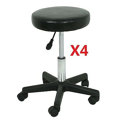 Adjustable Height LOTS 4 Tattoo Salon Stool Rolling Chair Facial Massage Office Health & Beauty
