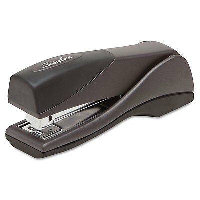 Swingline Optima Grip Compact Stapler Half Strip 25-sheet Capacity Graphite