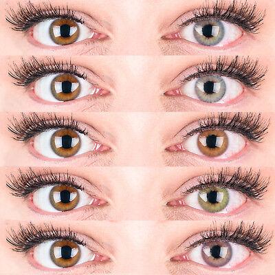 Farbige Silikon Kontaktlinsen Mit und Ohne Stärke weich - Grüne Farbige Kontaktlinsen