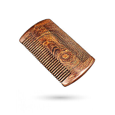 Bartkamm Bartpflege Bartbürste Premium Echtholz Bart Holz Herren Kamm Sandelholz