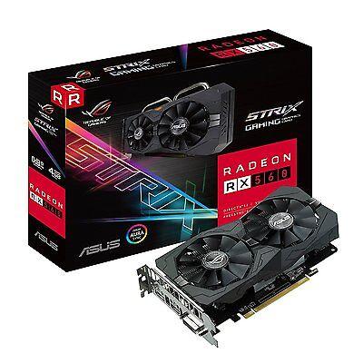 Asus ROG Strix Radeon RX 560 4GB Gaming GDDR5 DP HDMI DVI AMD Graphics Card
