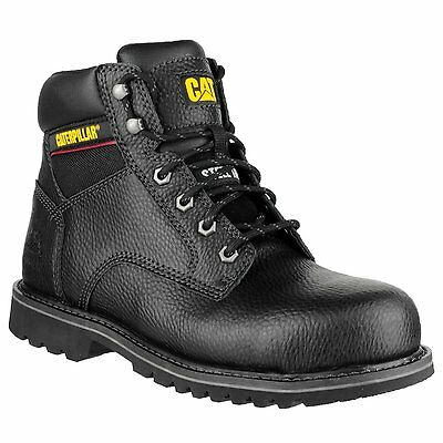 Men's Caterpillar Work Boots Electric 6 Inch Black Steel Toe P90423 Wide Caterpillar Black Steel Toe Boots