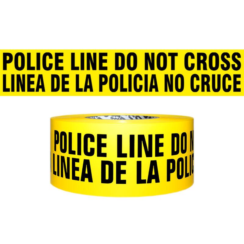 Presco 3 Mil Barricade Tape: 3 in. x 1000 ft. (POLICE LINE DO NOT CRS BILINGUAL)