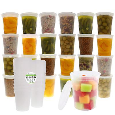 Freshware 24-Pack 32 oz Plastic Food Storage Containers with Airtight Lids ()