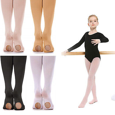 Women Girls Ballet Convertible Tights Pink Velvet Pantyhose Dance Socks