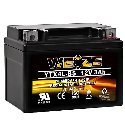 Weize YTX4L BS  High Performance   Rechargeable   Sealed AGM Motorcycle Battery