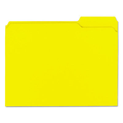 Universal Colored File Folders 13 Cut Assorted Two-ply Top Tab Letter Yellow