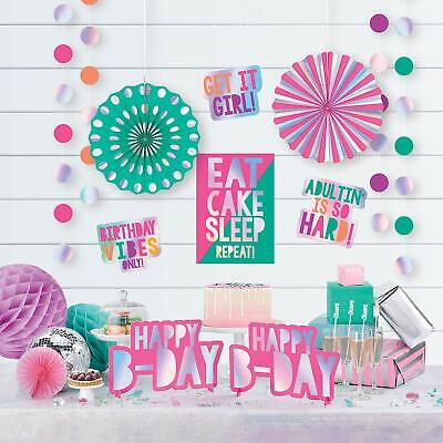 YOUNG AND FAB ROOM DECORATING KIT Party Decorations Wall Birthday Vibes Adult - Birthday Party Decorations Adults