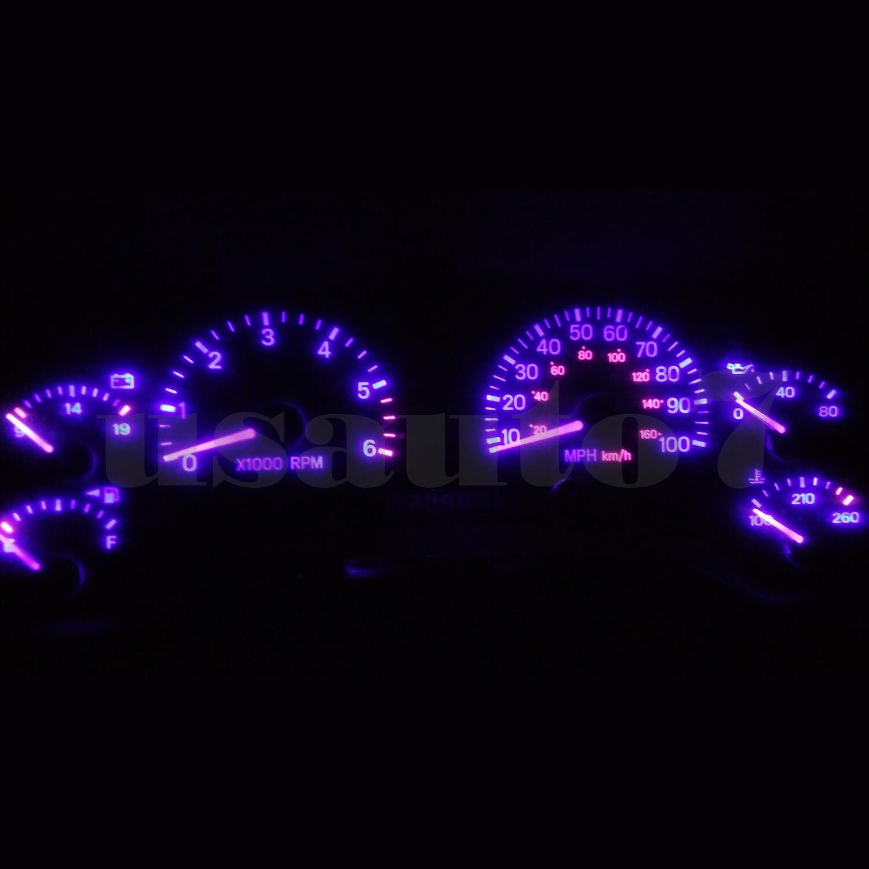 Dash Instrument Cluster Gauge PURPLE LEDS LIGHTS KIT Fits 97-01 Jeep Cherokee XJ