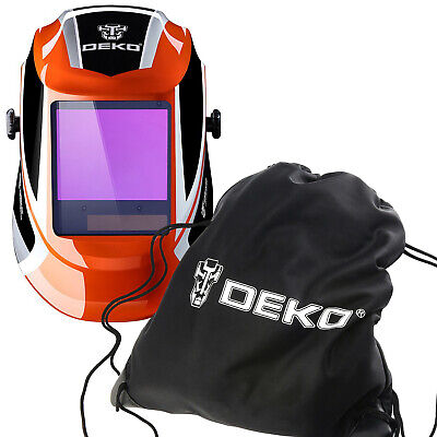 Dekopro Large View Grinding Welder Auto Darkening Welding Helmet Mask With Bag