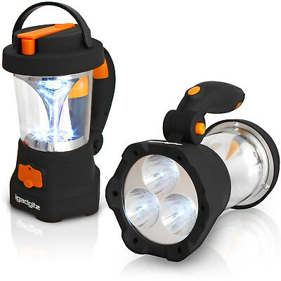 4 in 1 Wind Up Dynamo Rechargeable 3 LED Spotlight Torch 10 LED Lantern Camping ()