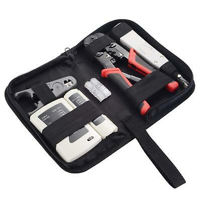 Ethernet Repair Kit Cable Installation Tool Crimper Network Rj45 Cat5E Cat6 (Cat6 Network Installation Kit)