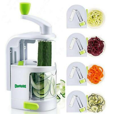 Spiralizers for Vegetables - ChefSpies Upgraded Vertical Built-in 4-in-1
