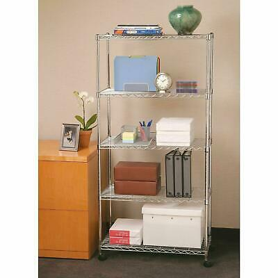 35 Tier Level Shelf Adjustable Wire Metal Commercial Shelving Rack Wrolling