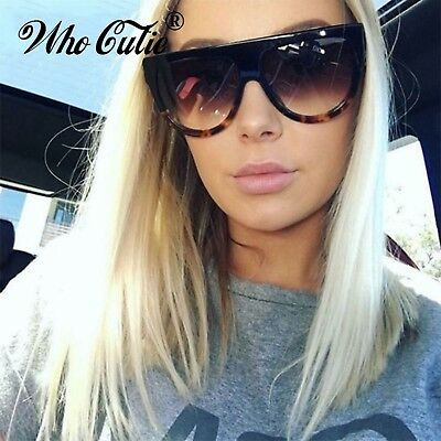 WHO CUTIE 2018 Oversized Cat Eye Sunglasses Women Brand Designer Kim Kardashian