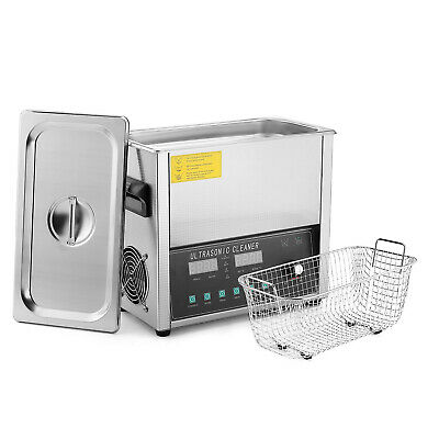 Commercial Ultrasonic Jewelry Cleaner Machine 6 Liter Sweep Degassing