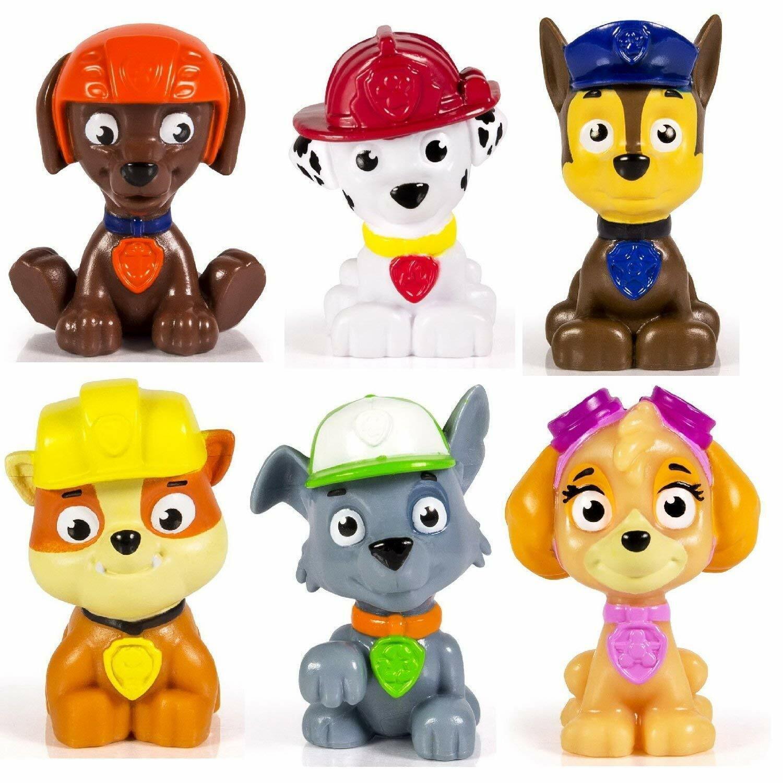 Paw Patrol Pup Buddies Figure Lot Of 6 Chase Marshall Skye Rubble Rocky Zuma