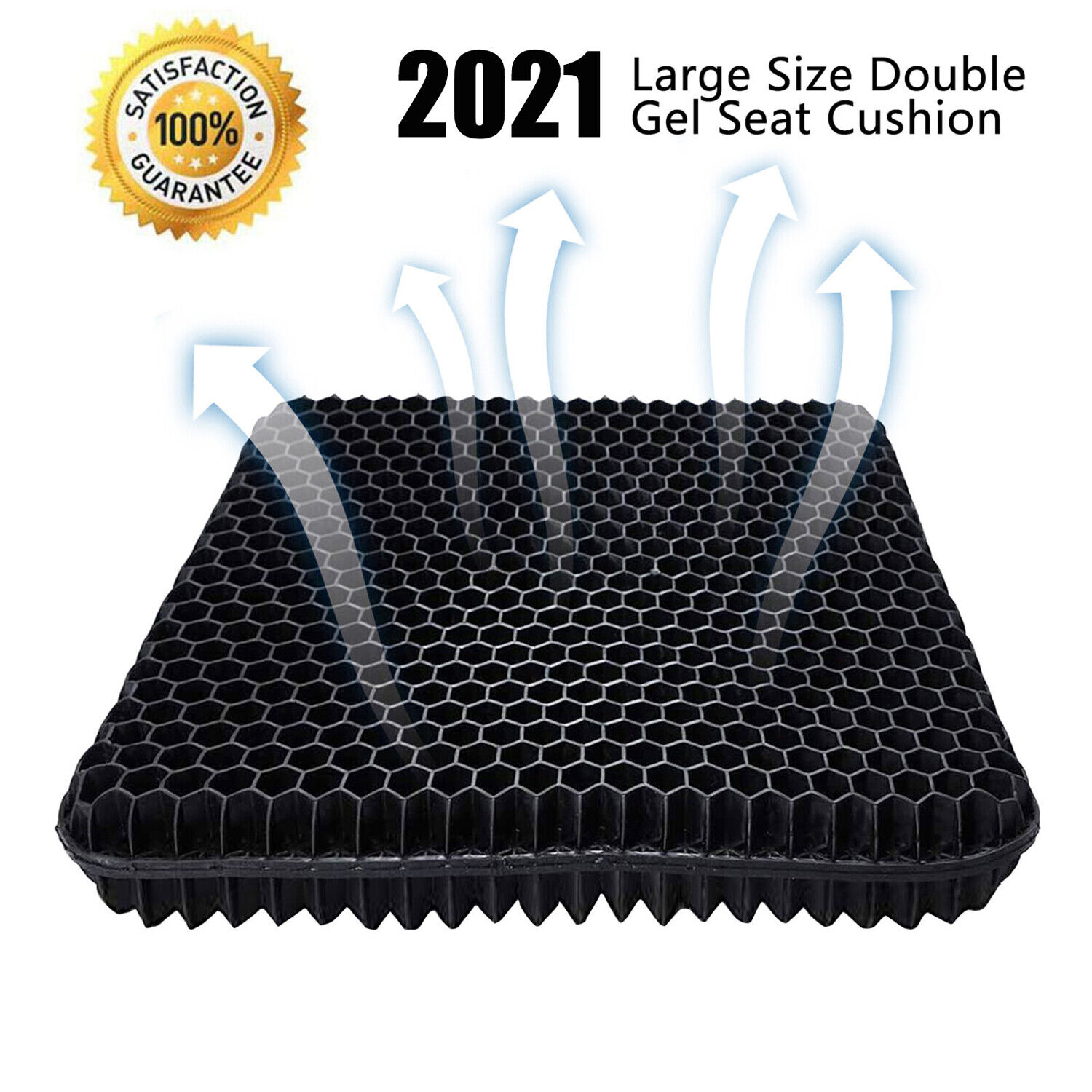 NEW GEL SEAT CUSHION DOUBLE THICK EGG SEAT CUSHION NON-SLIP COVER BREATHABLE DESIGN