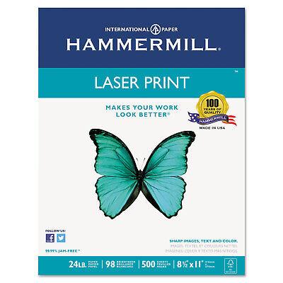 Hammermill Laser Print Office Paper 98 Brightness 24lb 8-12 X 11 White 500