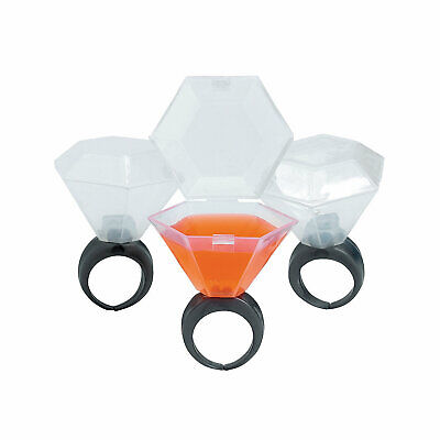 "Wedding Ring Shot Glasses - Bachelorette Party Supplies - 12 Pieces - 2.25"""