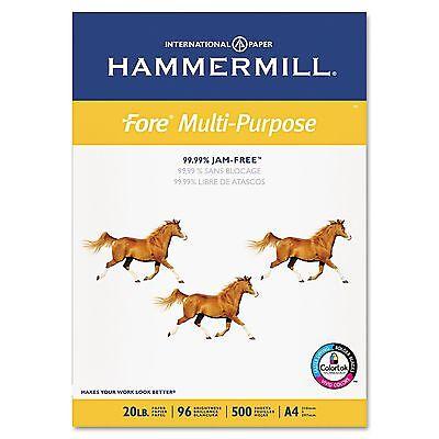 "Hammermill Fore Multipurpose Paper 20lb, 96 Bright (A4) 8-3/8 x 11-3/4"" – Ream"