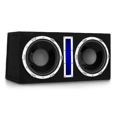 Auto Car Aktiv Subwoofer Bass Box KFZ Lautsprecher Lichteffekt Doppel Speaker