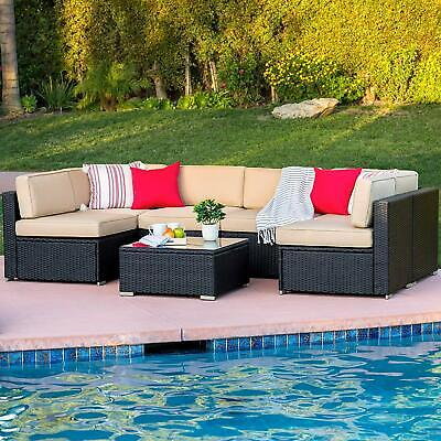 Best Choice Products 7-Piece Modular Outdoor Patio Furniture Set, Wicker