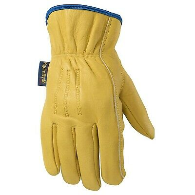 Slip-on Hydrahyde Leather Work Gloves Water-resistant Medium Wells Lamont ...