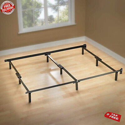 Best Full Size Metal Bed Frame 9 Leg Support Compack For Box Spring Mattress