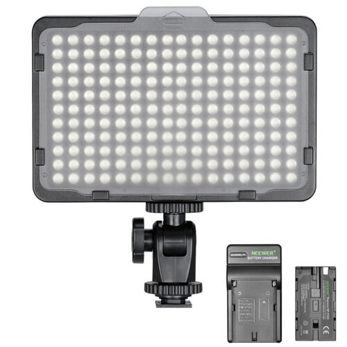 Neewer Dimmable 176 LED Video Light on Camera LED Panel with 2200mAh Battery